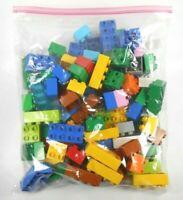 Lego Duplo Bricks Lot of 80 Various Colors (30 pcs 2x4 50 pcs 2x2)