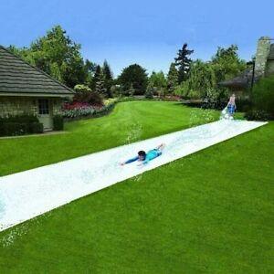 Tarpaulin Slip and Slide - Water Slide Garden Fun Summer kids plastic sheet 10m