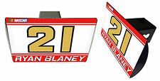 NASCAR #21 RYAN BLANEY Metal Trailer Hitch Cover-NASCAR Hitch Cover