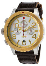 Nixon Chronograph Leather Mens Watch A3631884