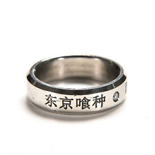 1pc Cosplay Anime For Tokyo ghoul Ken Kaneki Titanium steel ring rings Hot J&C
