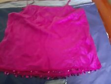 La Senza  lounge cami top, pure silk in dark pink, with sequince band at the end