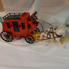Vintage 1950's Ideal  Stage Coach w/ Horses & Driver