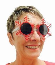 NEW Christmas Snowflake Sunglasses Fun Novelty Party Costume Secret Santa Gift