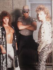 VINTAGE KODAK MOMENT BIG HAIR 1980s MULLET COP CHEST YMCA DUDES GAY INT PHOTO