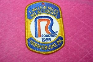 1 Million Miles No Accidents Roadway 1989 Harrisburg PA Two Identical Patches