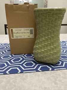 longaberger woven reflections small vase in sage NIB