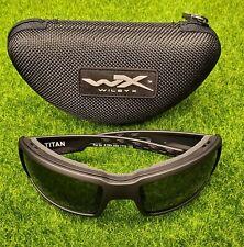 Wiley X WX Titan Men's Sunglasses, Smoke Grey Lens / Matte Black Frame - CCTTN01
