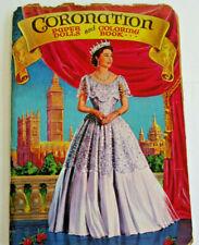 Vintage Queen Elizabeth II Coronation Coloring Book & Paper Dolls Copyright 1953