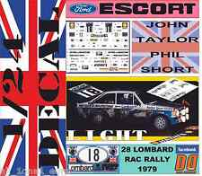 DECAL KIT 1/24 FORD ESCORT RS 1800 MK II J.TAYLOR RAC 1979 6th (LIGHT) (01)