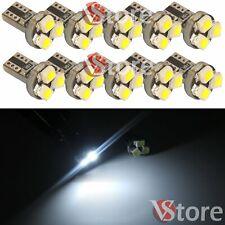 10 Ampoules T5 3 SMD LED 3528 Canbus Blanc Tableau de Bord Lumières