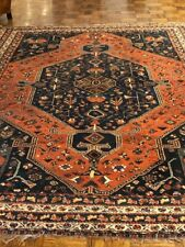 Afghan handmade Kashi antique rug, ca. 1900-1910, 7' x 10'
