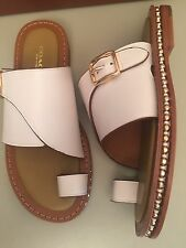 Coach Alexa Leather Toe Loop Slide On Sandals Size 6.5M *NEW