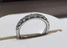 18CT WHITE GOLD HALF ETERNITY RING 1.00CT FVS DIAMONDS LADY RING GOY330