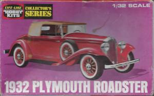 Vintage 1932 Plymouth Roadster Life-Like Model Kit Un-Assembled w Original Box