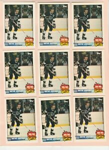 1990-91 TOPPS #12 LOT OF 9 WAYNE GRETZKY SCORING LDR. CARDS, NRMT/MT