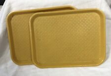 VTG 60S YELLOW MOD KLIMAX TRAY LUNCH LE BEAN PRODUCTS GOOD CONDITION KITSCH