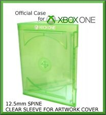 Microsoft Xbox One Case double (holds 1 or 2 discs) GREEN 12.5mm  - NEW