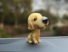 Resin Funny Bobble Head labrador Dog Figurine Car Home Room Ornaments Decor Gift