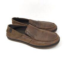 Teva Clifton Creek 1003517 Brown Leather Moc Toe Slip On Loafer Shoes Mens 11