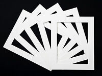 Packs of 5 White Picture Mounts, Black Picture Mounts, Cream Picture Mounts.