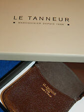 LE TANNEUR france MINI porte monnaie repliable CUIR leather WALLET Brieftasche