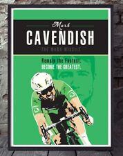Mark Cavendish tour de France cycling poster. Specially created