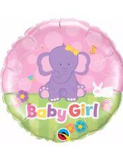 "Qualatex Baby Girl Elephant 18"" Foil Balloon"