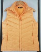THE NORTH FACE 550 Size Medium Goose Down Creamsicle Orange Womens Vest Gilet