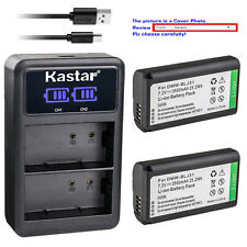 Kastar Battery LCD Dual Charger for Panasonic S1R S1H LUMIX S Series Mirrorless