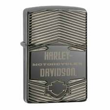 More details for zippo x harley-davidson lighter h-d motorcycles black ice armour