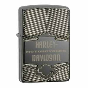 Zippo x Harley-Davidson Lighter H-D Motorcycles Black Ice Armour