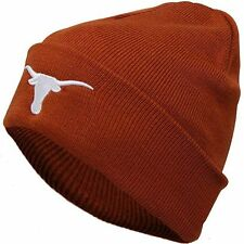 Texas Longhorns Official NCAA Simple Knit Cuffed Beanie Stocking Hat Cap 423036