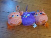 McDonalds Happy Meal Toy 2016 3 x Furby Connect Soft Plush Toys purple peach
