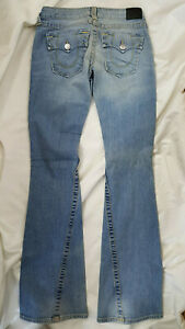 NEW Women's True Religion Joey Flair Jeans flap pocket size 26x33