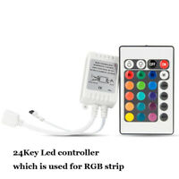 24 Key LED IR Remote Controller with Receiver for RGB 3528 5050 LED Light Strip