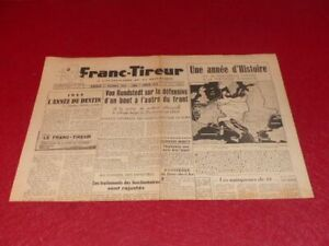 "[PRESSE WW2 39-45] ""FRANC TIREUR"" # 155 / 1er JANVIER 1945 EO"