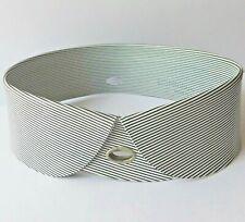Vintage British Xylonite collar striped detachable size 14 UNUSED celluloid