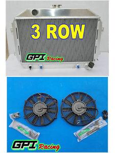 gpi Aluminum Radiator for Nissan Datsun 240Z/260Z L24/L26 AT/MT +2xfan