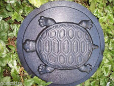 "GOSTATUE MOLD turtle stepping stone  plastic mold 13"" x 1.5 "" deep"