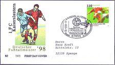 BRD 1998: 1. FCK Meister! FDC der Nr 2010 Kaiserslautern-Stempel! Gelaufen! 1709
