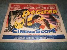 DESIREE(1954)MARLON BRANDO ORIGINAL 1/2 SHEET POSTER NICE!