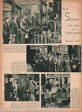 "Movie Review of Paul Muni in ""Black Fury"" - 1930's Era"