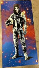 DAVID BOWIE STARMAN Limited edition print metallic blue MATT DYE BLUNT GRAFFIX
