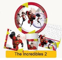 Disney Pixar THE INCREDIBLES 2 Birthday Party - Tableware Balloons Decorations