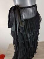Ann Summers Albany Frill Skirt Black Beach Summer Skirt One Size BLACK A163-13