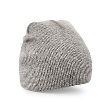 Unisex Heather Grey Soft Feel Beanie Hat - Winter, Autumn, Warm, Snow, Ice, Rain