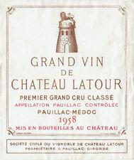 Étiquettes bordeaux pour vins et gastronomie Années 1950 de France