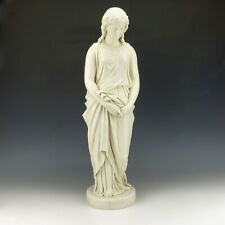Antique Copeland Parian Pottery - Large Maidenhood Young Lady Figure