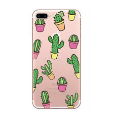 NEW Phone Case Cover For iPhone 5 6 7 Plus Plants Cactus Clear TPU Soft Silicone